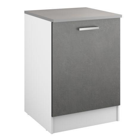 Onderkast Eli 60 cm met deur - beton
