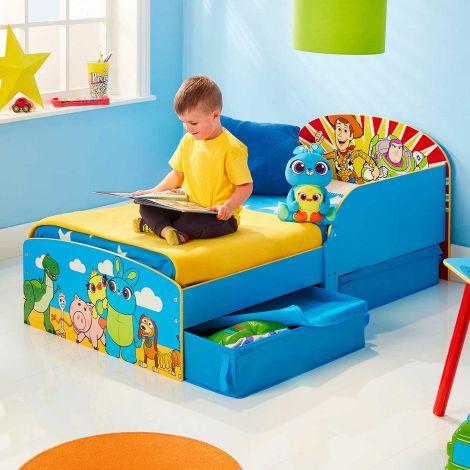 Peuterbed met lades Toy Story - blauw