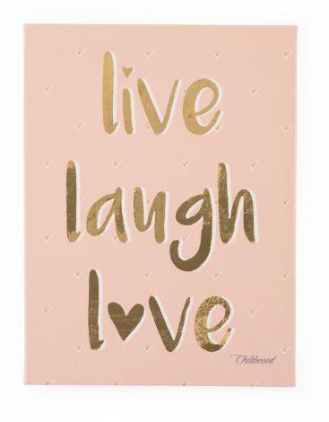 Canvas Live Laugh Love 30x40