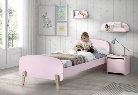Kinderbed Kiddy Roze - 90x200 cm meisjesbed