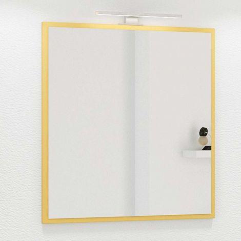 Spiegel Hansen 60cm met verlichting - geel