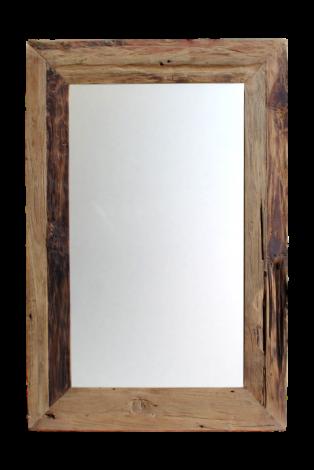 Wandspiegel Rustiek - 80x50 cm - drijfhout teak