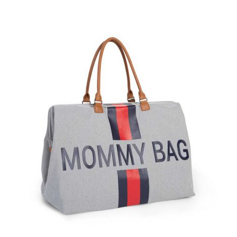 Luiertas Mommy Bag met strepen - grijs