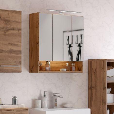 Spiegelkast Sefa 60cm 3 deuren - wotan eik