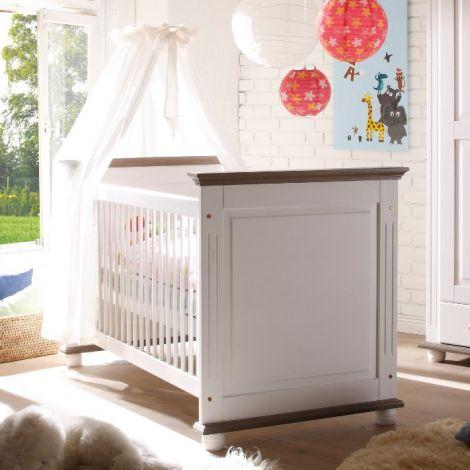Babybed Laurel 70x140 - wit/bruin