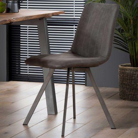Set van 4 stoelen Jasmine - antraciet