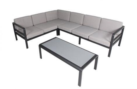 Modulaire loungeset Milton - zwart