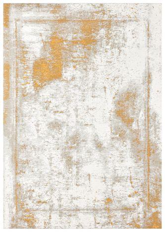 Vloerkleed Argentella Plain 230x160 Vintage - Goud/ivoor