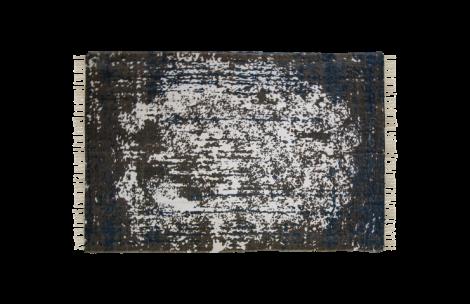 Vloerkleed - katoen - 300x200 cm - teal / beige