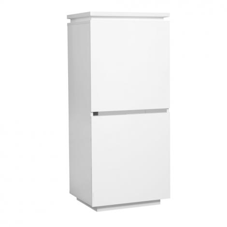 Buffetkast Elif 55cm met 2 deuren - hoogglans wit