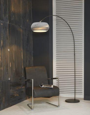 Vloerlamp boog 1L Carta - Wit