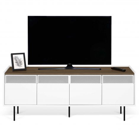 Tv-meubel Radio 160cm - walnoot/wit