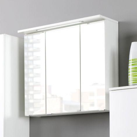 Spiegelkast Bobbi 60cm model 1 3 deuren & ledverlichting - wit