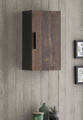Hangkastje Casa 1 deur - hout/grafiet