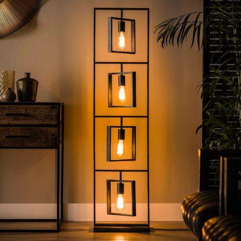 Staande lamp Turner 4 lampen - antraciet