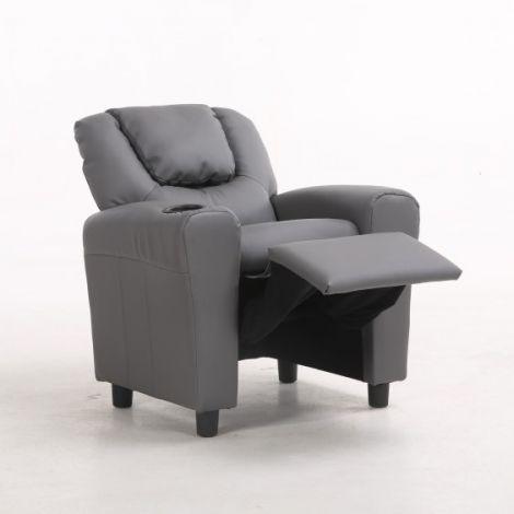 Relaxfauteuil voor kinderen Rex - grijs