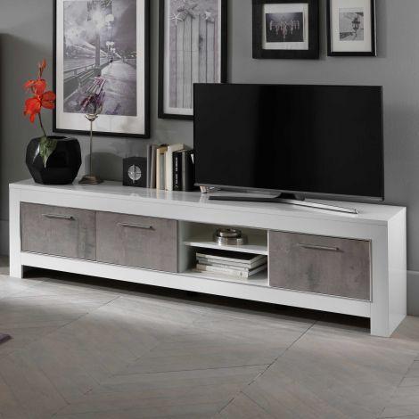 Tv-meubel Modena 207 cm - wit/beton