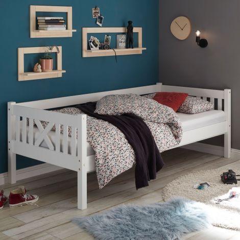 Bedbank Trever landelijk - wit