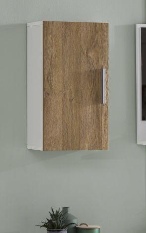 Hangkastje Casa 1 deur - wit/oude eik