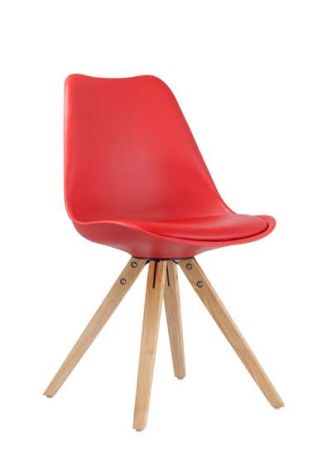 Set van 2 stoelen Lady - rood