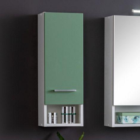 Hangkast Ricca 25cm 1 deur - wit/groen