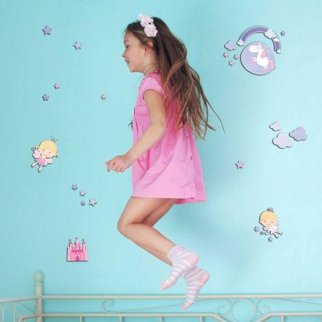 Muurstickers 3D Happy Fairies