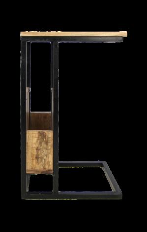 Bijzettafel - mangohout / ijzer
