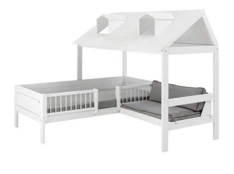 Beach House bed met bank en dak