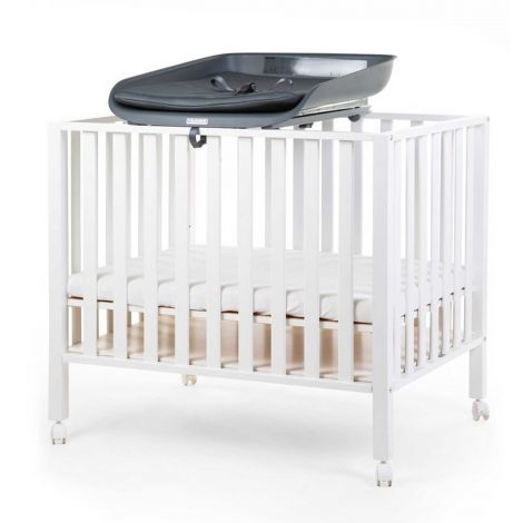 Verzorgingsunit Evolux met aankleedkussen voor babybed/box - antraciet