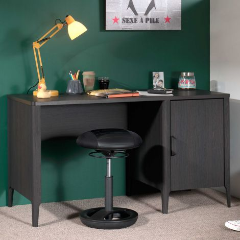 Bureau Azalea 137cm - bruin/zwart