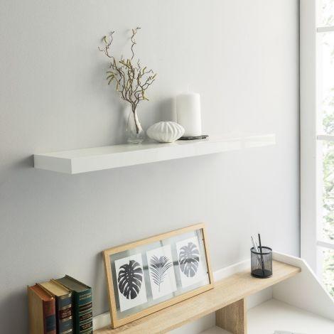 Wandplank Shelvy 80cm - hoogglans wit