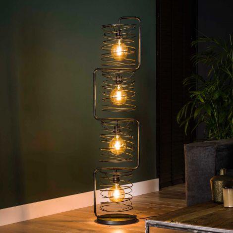 Staande lamp Karin 4x Ø25 - antraciet