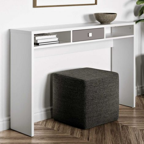 Sidetable Pure - wit/taupe