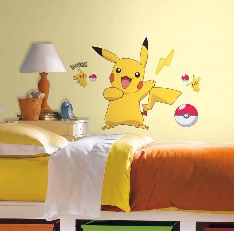 XL muursticker Pokémon Pikachu