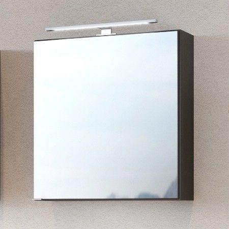 Spiegelkast Dasa 60cm met 1 deur - grafiet/mat grijs