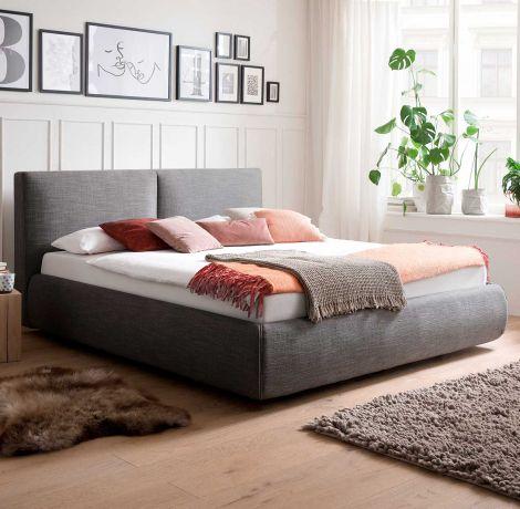Bed met opbergruimte Celine 180x200 - antraciet (incl. matras Lucca H2+H3)