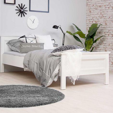 Eenpersoonsbed Landwood 90x200 cm landelijk - wit