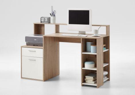 Bureau Elton - eik/wit