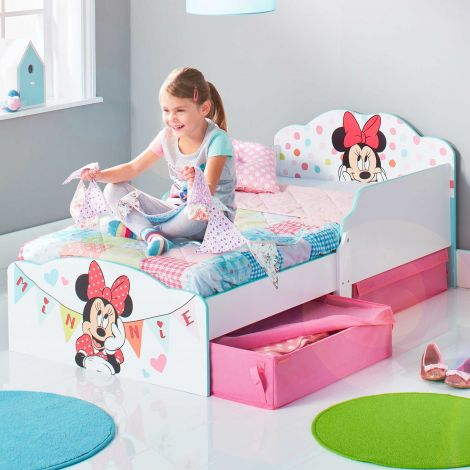 Peuterbed met lades Minnie Mouse