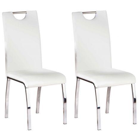 Set van 2 stoelen Texas - wit