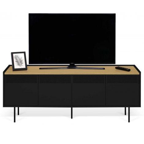 Tv-meubel Radio 160cm - eik/zwart