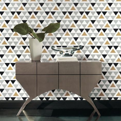 Muursticker behangpapier Geometric Triangle