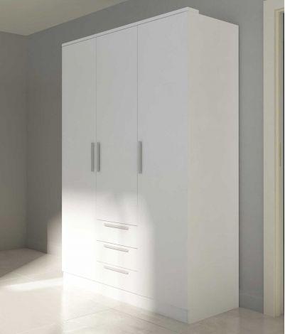 Kledingkast Ramos 3 deuren & 3 laden - wit