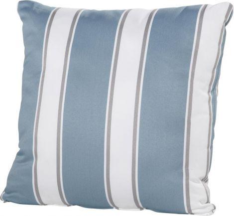 Kussen 50x50 - blauw/wit gestreept