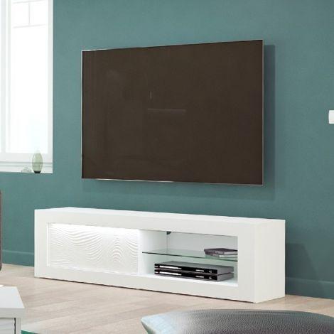 Tv-meubel Kaia 170cm - hoogglans wit