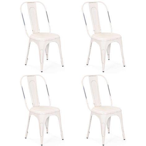 Set van 4 stoelen Aix - wit