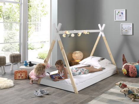 Tipi bed 90x200 massief hout - Vipack