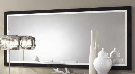Spiegel Roma 180 cm - zwart/wit