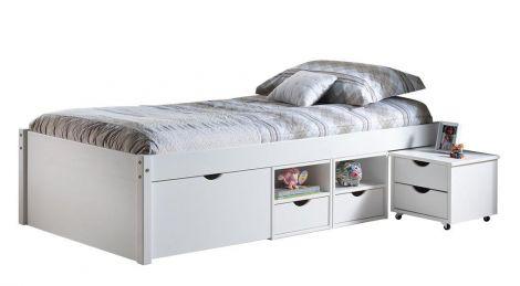 Kajuitbed Xavier 90x200 cm - white wash