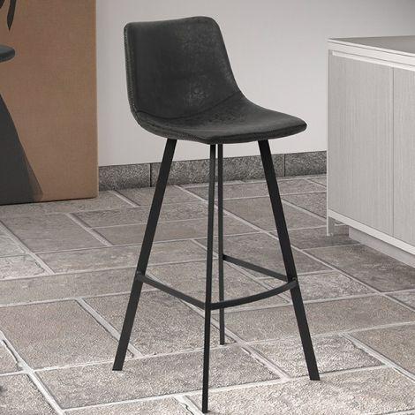 Set van 2 barstoelen Joran 68cm - zwart